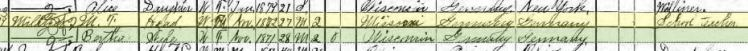 Martin Militzer 1900 census Janesville WI
