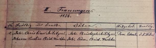 Militzer Wachter marriage record Concordia