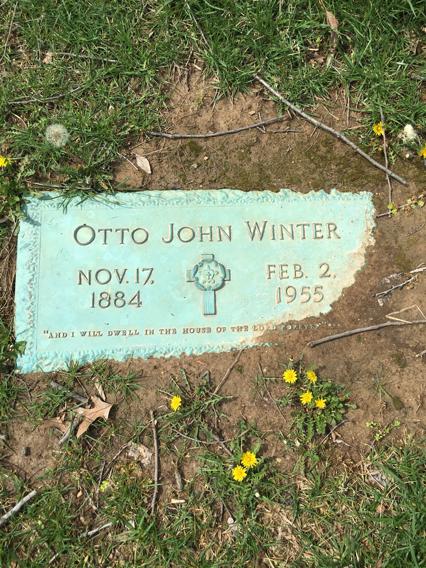 Otto Winter grave marker