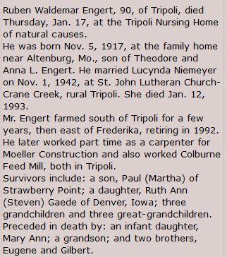 Ruben Engert obituary