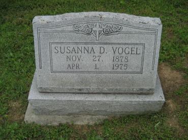 Susanne Vogel gravestone Immanuel Perryville