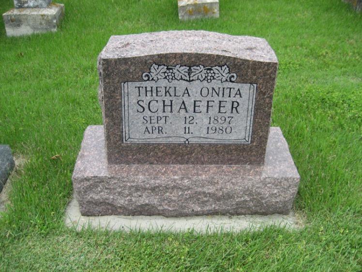 Thekla Schaefer gravestone Immanuel Perryville