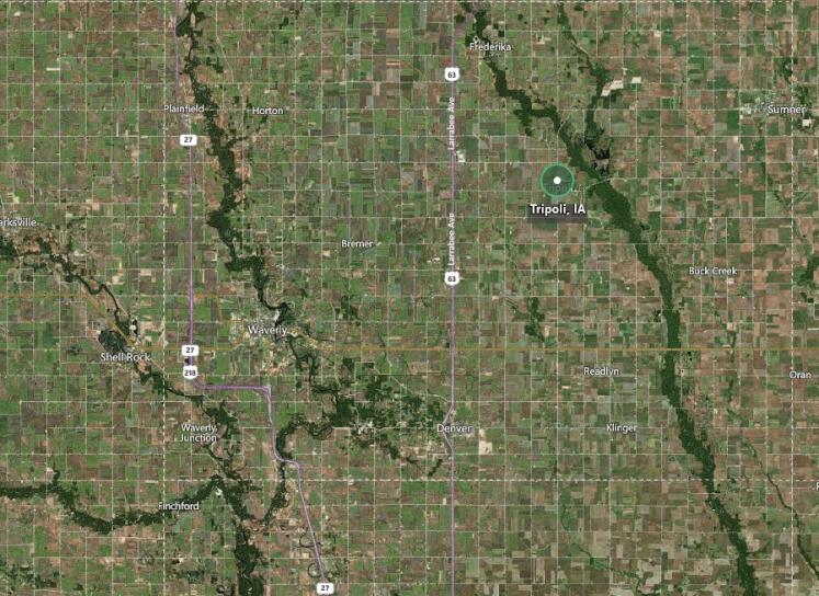 Tripoli Iowa map