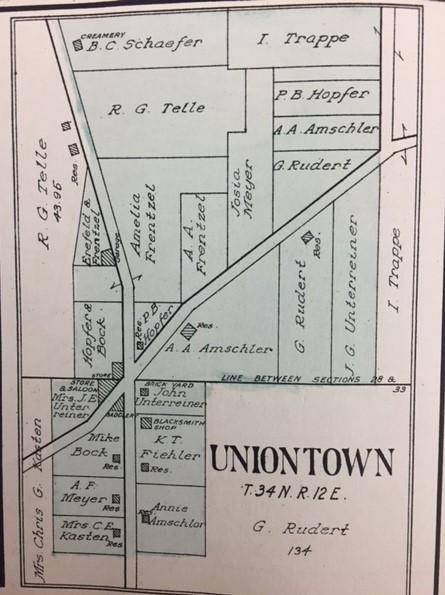 Uniontown 1915 map