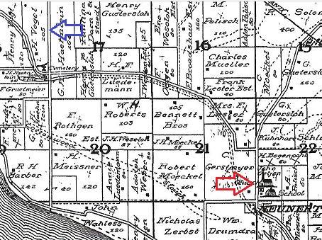 Vogel land Fountain Bluff plat map