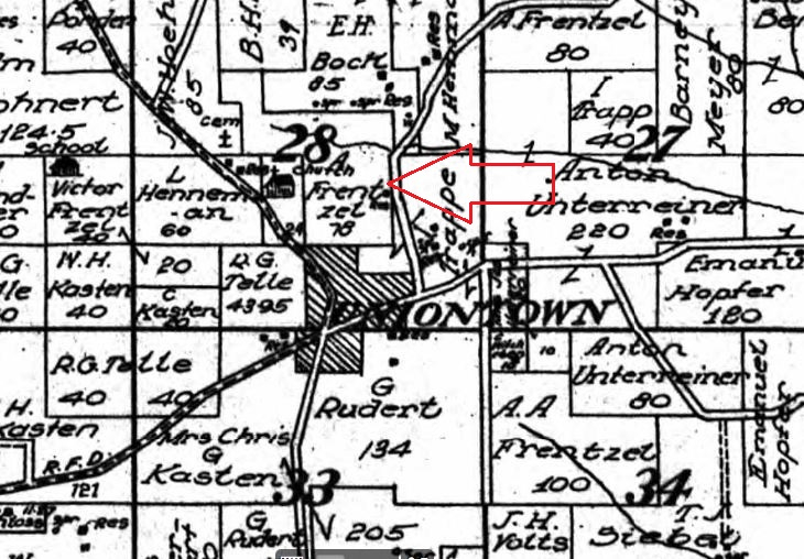 A. Frentzel land map 1915