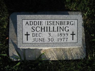 Addie Isenberg gravestone Wittenberg