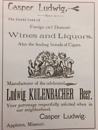 Casper Ludwig Brewery advertisement