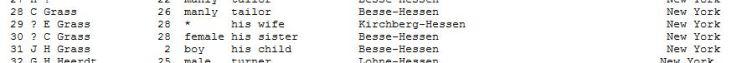 Christian Grass passenger list Henrietta