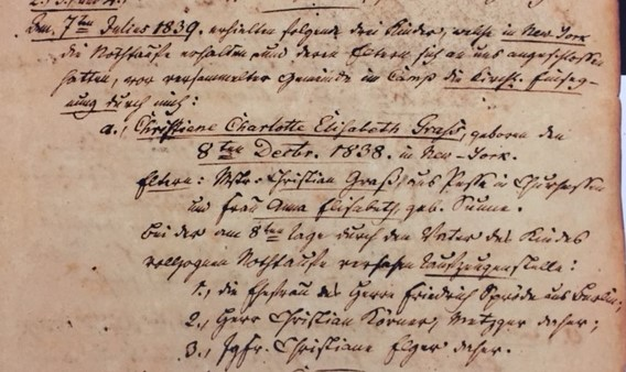 Christiane Grass baptism record Trinity Altenburg
