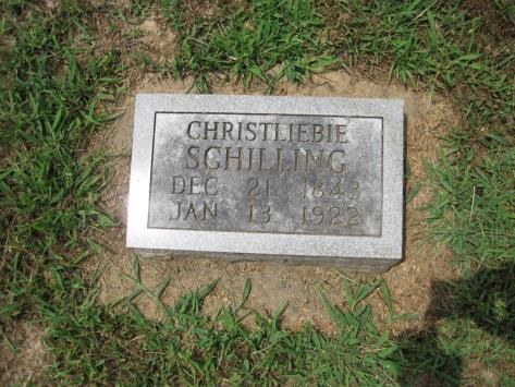 Christliebe Schoenborn Schilling gravestone Concordia
