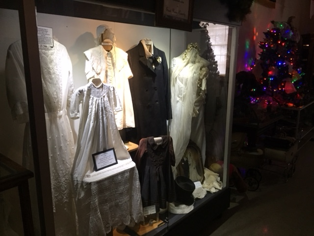 Clothing display museum Frentzel wedding dress