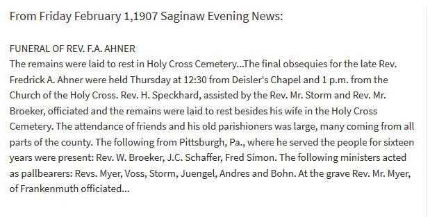 Friedrich Ahner obituary