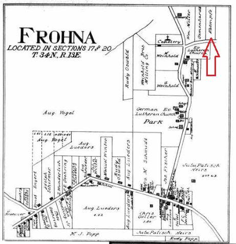 Frohna map 1915 Kaempfe