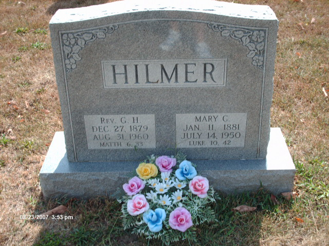 George and Mary Hilmer gravestone St. John Arnold