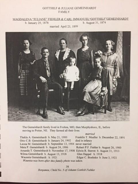Gotthilf Gemeinhardt family