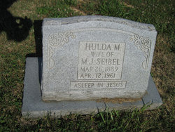 Hulda Ahner Seibel gravestone Trinity