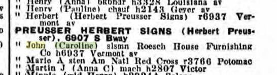 John Preusser 1931 city directory St. Louis