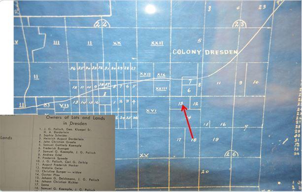 Log Cabin location map Buenger land