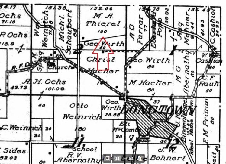 Martin Thieret land map 1915