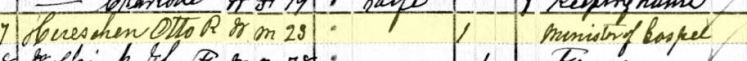 Otto Hueschen 1880 census New Haven MO