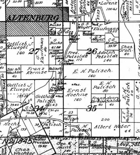 Palisch land map 1915