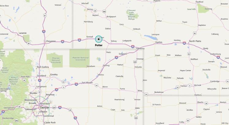 Potter, NE map