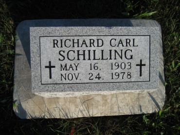 Richard Schilling gravestone Wittenberg