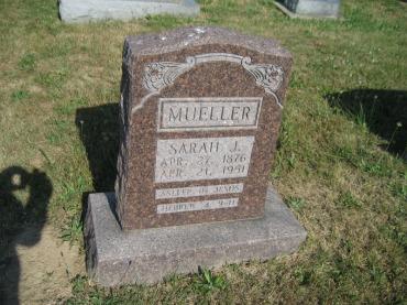 Sarah Boehme Mueller gravestone Trinity
