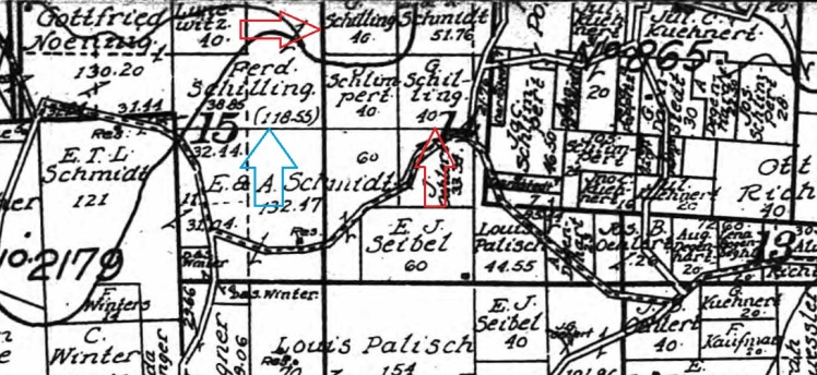 Schilling land map 1915