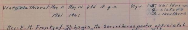 Victoria Thieret death record Longtown