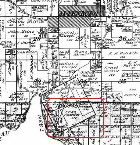 Wachter land map 1915