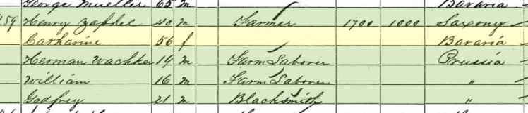 Wilhelm Wachter 1860 census Altenburg