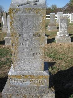 Wilhelm Wachter gravestone Trinity