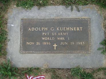 Adolph Kuehnert grave marker Trinity Altenburg