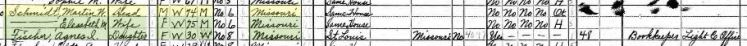 Agnes Fischer 1940 census Altenburg
