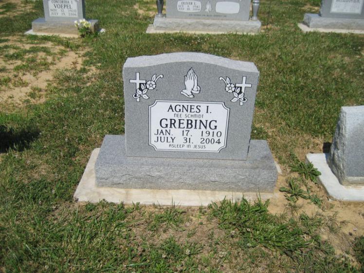 Agnes Schmidt Grebing gravestone Trinity Altenburg