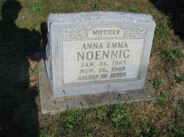 Anna Noennig gravestone Trinity Altenburg
