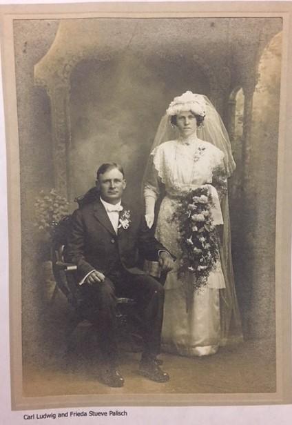 Carl Ludwig and Frieda Stueve Palisch wedding