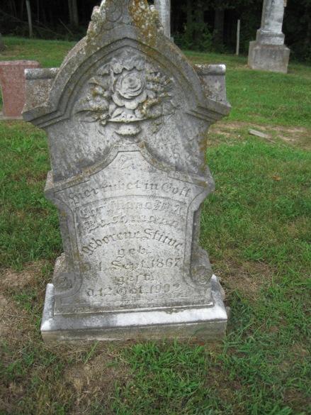 Christiana Stueve Bachmann gravestone Concordia