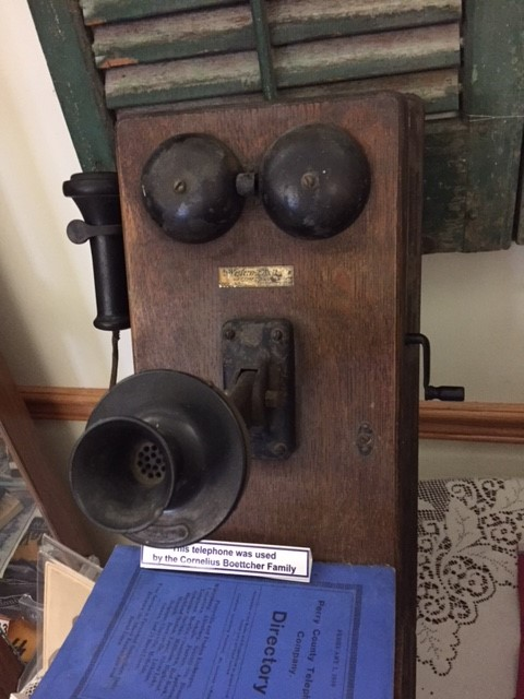 Cornelius Boettcher family telephone museum exhibit