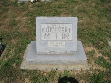 Gertrude Kuehnert gravestone
