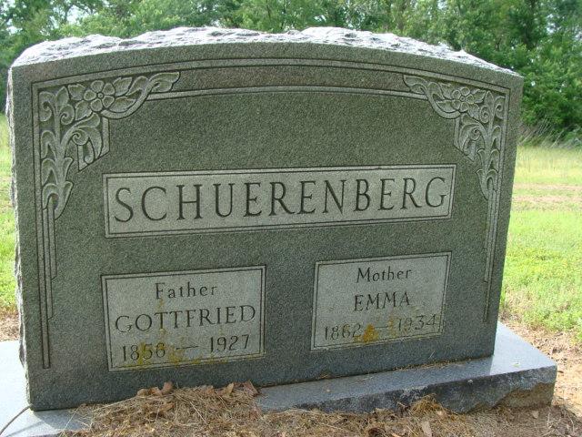 Gottfried and Emma Schuerenberg gravestone Morley MO