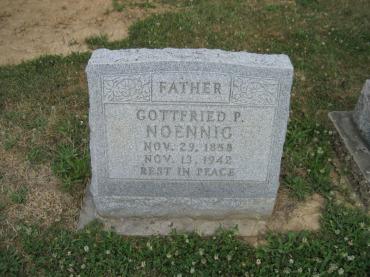 Gottfried P Noennig gravestone Trinity Altenburg