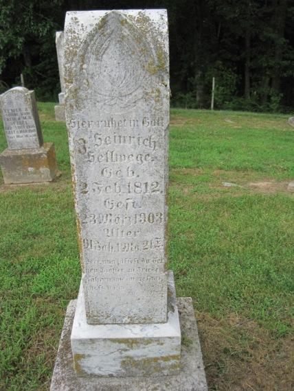 Heinrich Hellwege gravestone Concordia Frohna