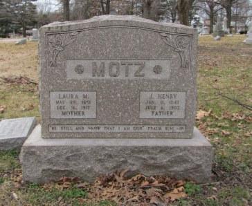 J Henry Motz gravestone Concordia Cemetery St. Louis