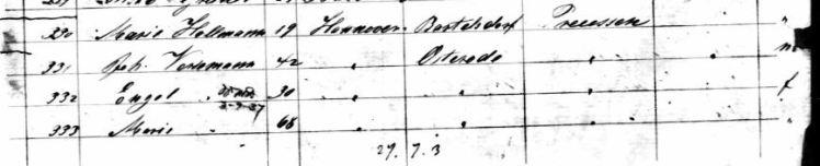 Johann Versemann passenger list Berlin 1