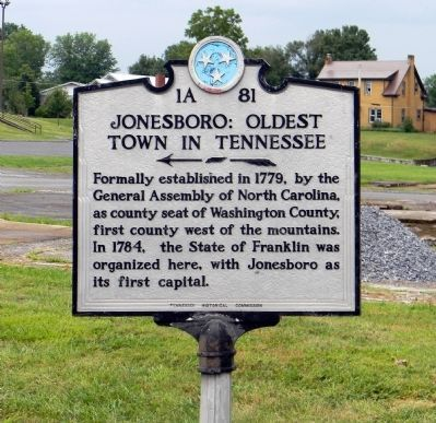 Jonesborough TN historic register sign