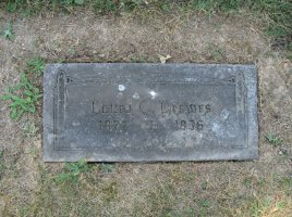 Laura Motz Drewes gravestone St. Trinity Cemetery St. Louis