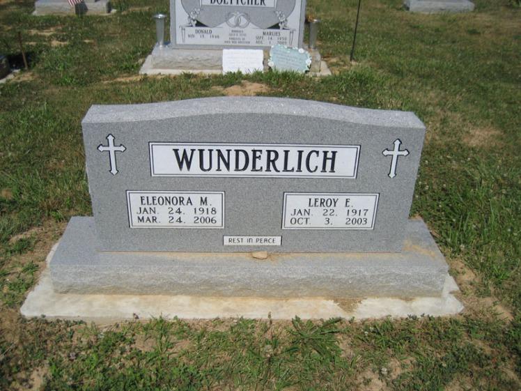 Leroy and Eleonora Wunderlich gravestone Trinity Altenburg